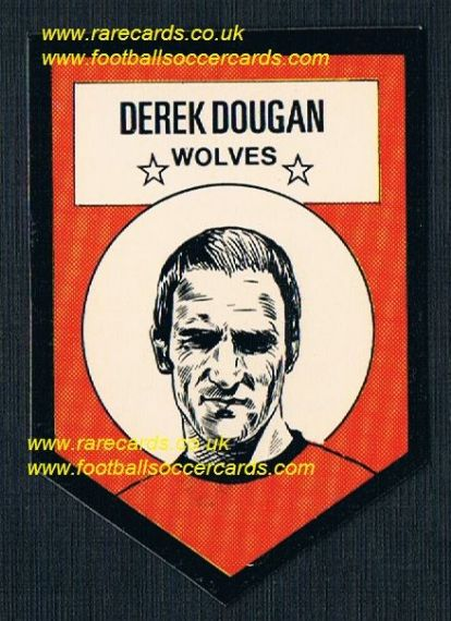 1972 BAB unused Shooting Stars Wolves Dougan with original backing paper